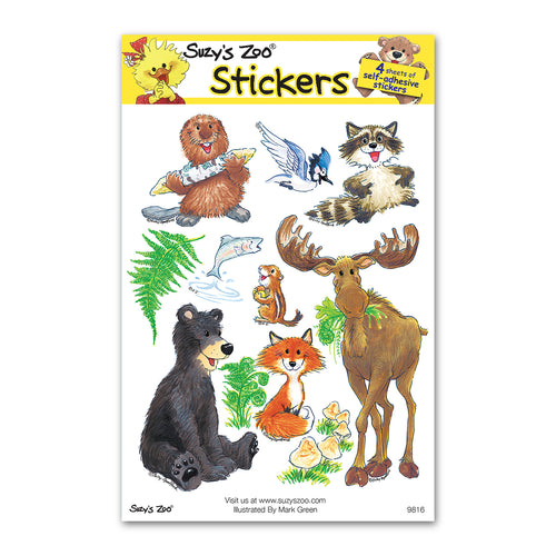 Woodland Creatures Multi Stickers (4-pack)