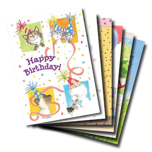 Mixed Cards 6-pack: Happy Birthday Hugs