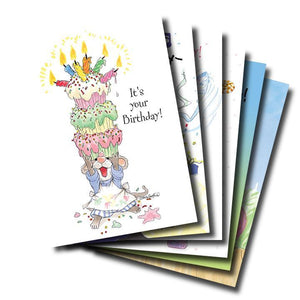 Mixed Cards 6-pack: Happy Birthday Candles