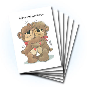 Bear Hugs Anniversary Greeting Card