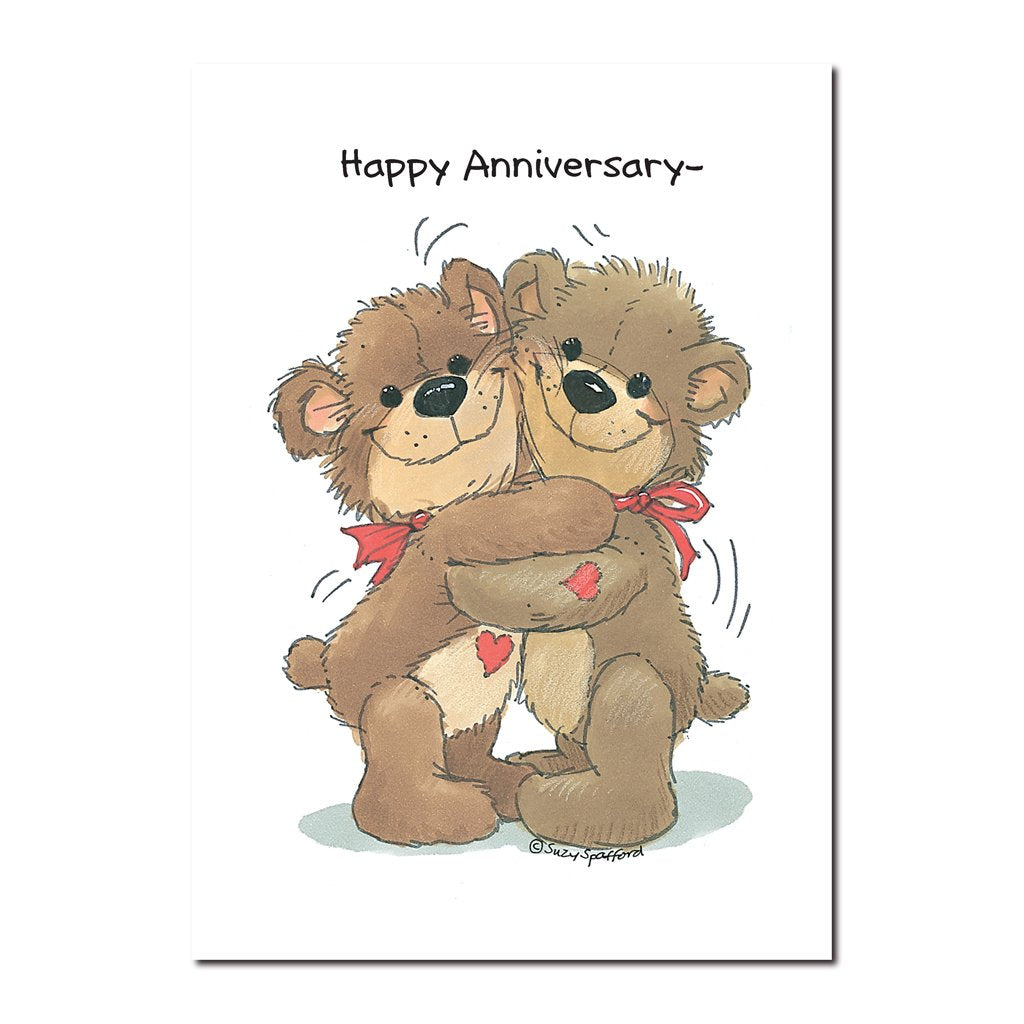 Here is the knock-about affectionate teddy bear couple, Lovey and Rowf giving each other... what else?! Bear hugs!