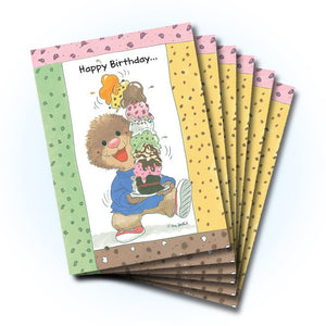 Ollie Ice Cream Birthday Greeting Card