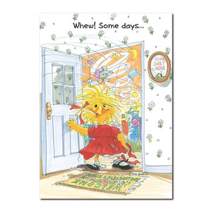 Even Suzy Ducken can have one of those too-weird days! In this Suzy's Zoo friendship greeting card.