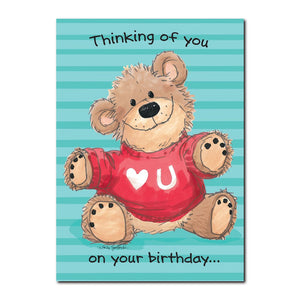 The bears in Duckport are so lovable and huggable, especially this guy in this Suzy's Zoo happy birthday greeting card.