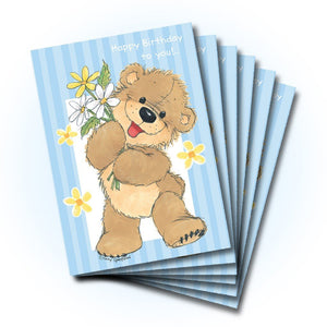 Birthday Flowers Greeting Card