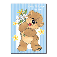 Here is Daisy Bear, bearing daisies, of course, in this Suzy's Zoo happy birthday greeting card.