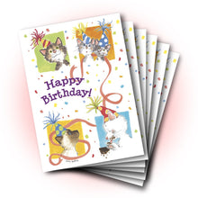 Duckport Kitties Birthday Greeting Card