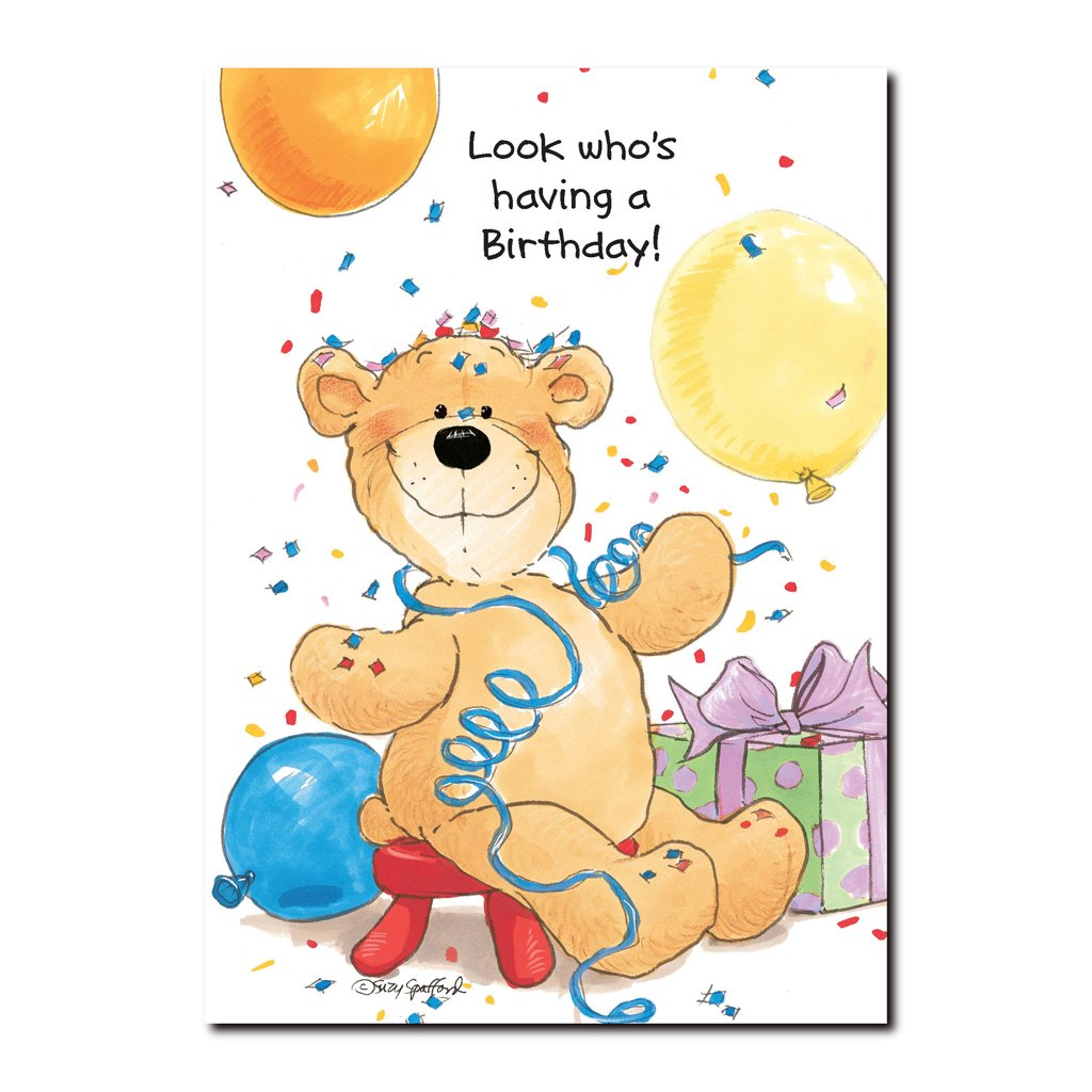 This Suzy's Zoo Happy Birthday greeting card features an old bear named Billy Boy, named for a brave and dear friend.
