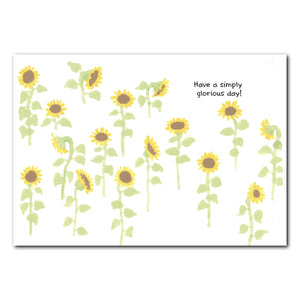 Cornelia O'Plume Sunflowers Birthday Greeting Card