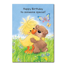 Special friends Witzy and Boof feature on this Happy Birthday greeting card from Little Suzy's Zoo.