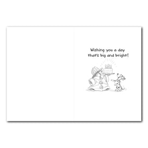 Fireman Ollie Marmot Birthday Greeting Card