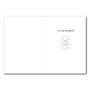 Suzy Praying at Bed Friendship Greeting Card