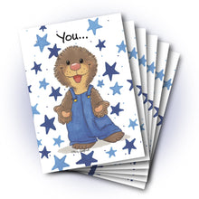 Ollie's Blue Stars Friendship Greeting Card