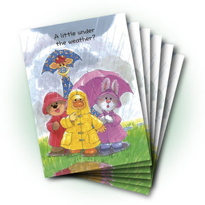 Group Rain! Get Well Greeting Card
