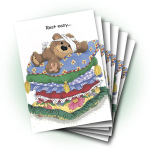 Willie Bear Mend Quickly Get Well Greeting Card