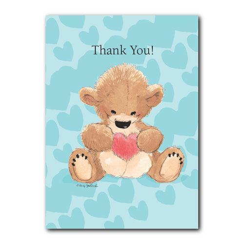 Boof's Grateful Heart Thank You Greeting Card