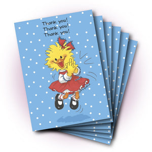 Suzy Clapping Thank You Greeting Card