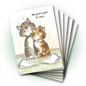 Maurice and Camille Thank You Greeting Card