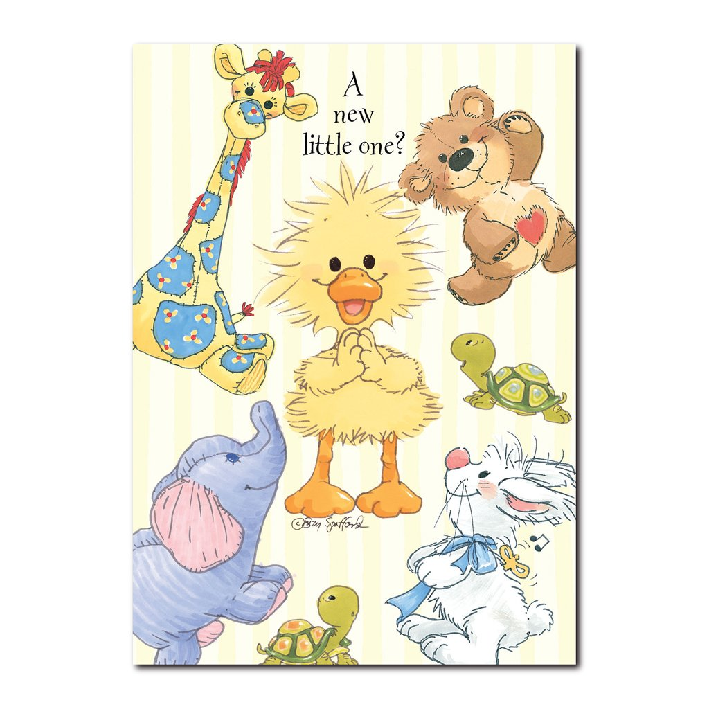 Witzy knows how much fun it is to be a baby in this baby congrats greeting card from Suzy's Zoo.