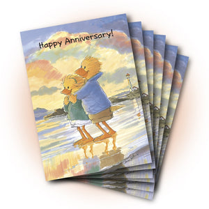 Lizzie and Lester Sunset Anniversary Greeting Card