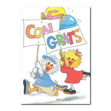 Jack and Suzy are excited for you on this congratulations greeting card from Suzy's Zoo.