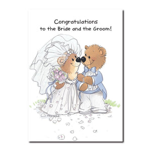 It's Rowf and Lovey, that lovable, tumble-some teddy bear duo in this Wedding greeting card from Suzy's Zoo.