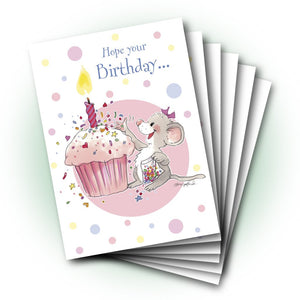 Midge Mouse's Sprinkles Birthday Greeting Card