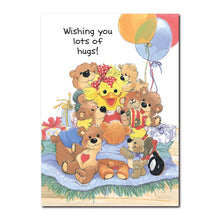 Where there's a bear, there's a hug. And what better day to get your fair share than your birthday in this Suzy's Zoo card.