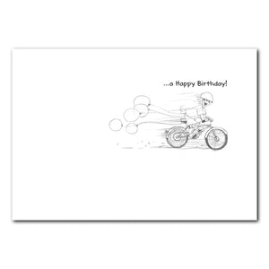Jack on A Bike Birthday Greeting Card