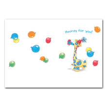 Patches Horn & Balloons Birthday Greeting Card