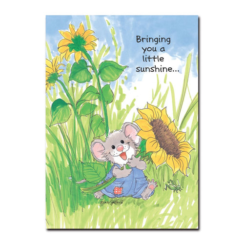 Here comes Herkimer with an armload of sunshine in this card from Suzy's Zoo, the perfect way to express your friendship.