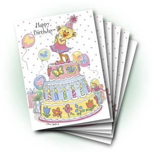 Polly's Cake Birthday Greeting Card