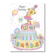 Polly Quacker feels so special on her birthday in this Happy Birthday greeting card from Suzy's Zoo.