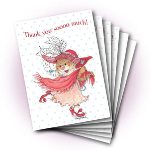 Emily Dress Up Thank You Greeting Card