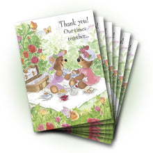 Bears Tea Time Thank You Greeting Card