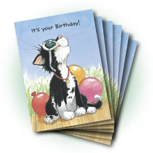 Natasha Sunglasses & Balloons Birthday Greeting Card