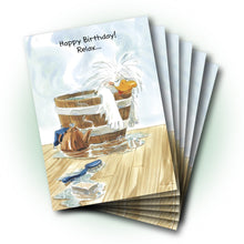 Jack in Hot Tub Birthday Greeting Card
