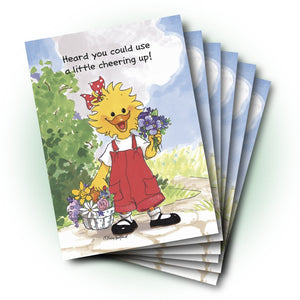 Suzy Pansies & Overalls Get Well Greeting Card