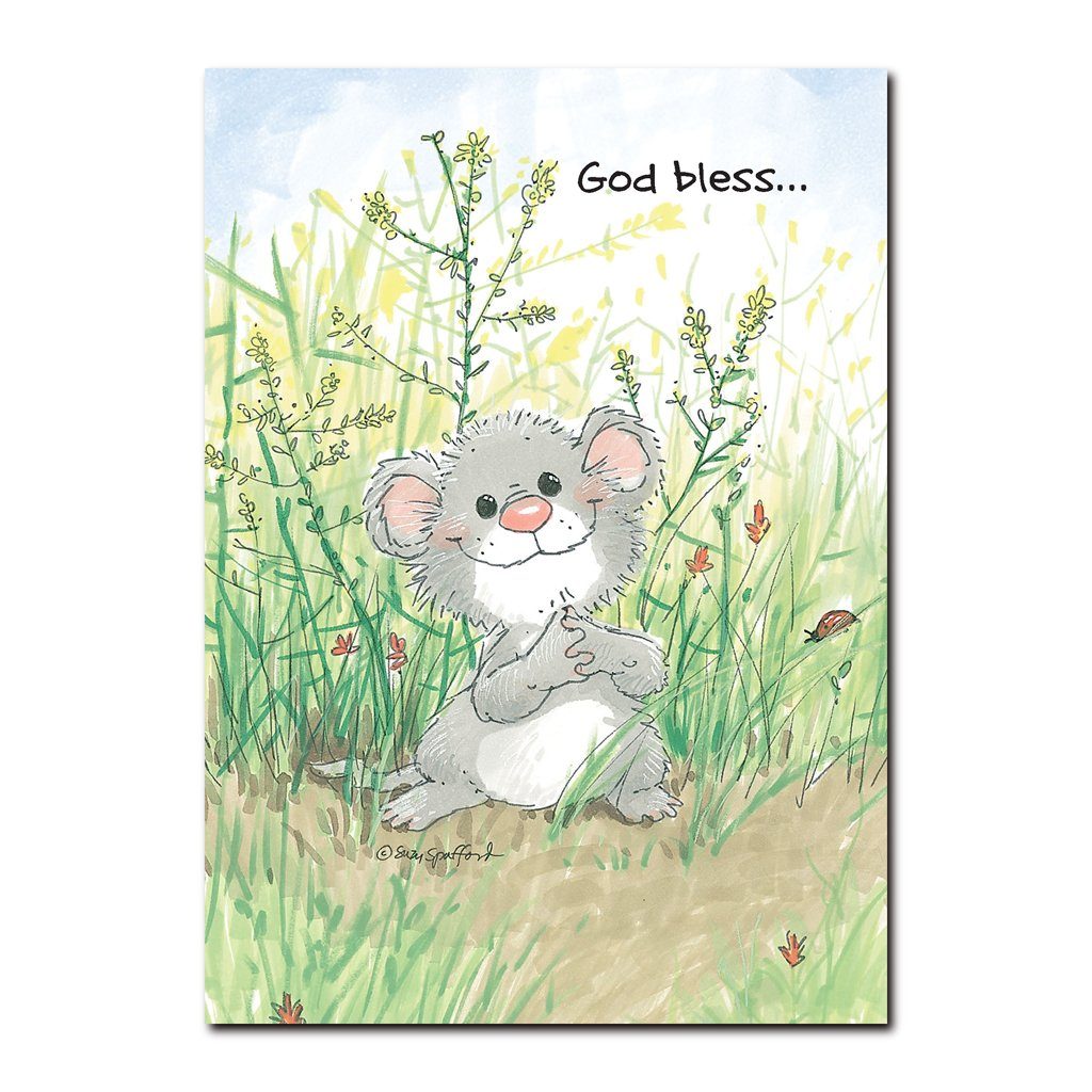 However small, this little mouse is wishing you big blessings in this friendship greeting card from Suzy's Zoo.