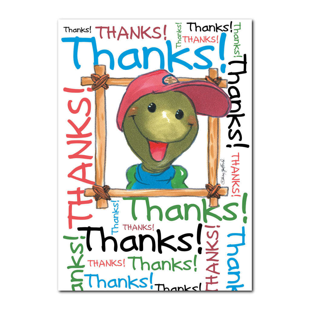 Corky Turtle Thank You Greeting Card