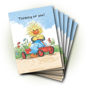 Fritz Wagon Get Well Greeting Card