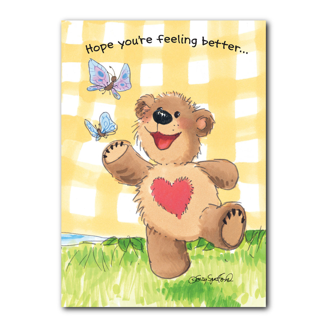 Boof's Butterflies Get Well Greeting Card