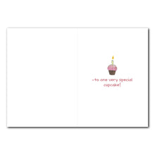 Emily Cupcake Birthday Greeting Card