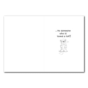 Homer Bear Mailbox Birthday Greeting Card
