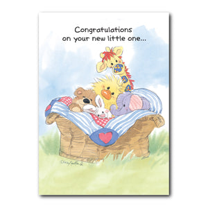 Witzy & Friends Baby Congrats Card