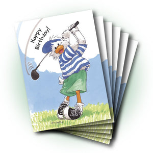 Jack Golf Birthday Greeting Card