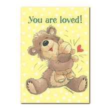 A good bear hug is always nice! Just like the one on this happy birthday greeting card from Suzy's Zoo.