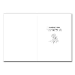 Suzy Flowers Encouragement Greeting Card
