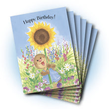 Ollie Sunflower Birthday Greeting Card