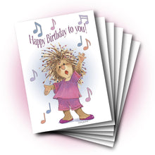 Penelope Singing Birthday Greeting Card